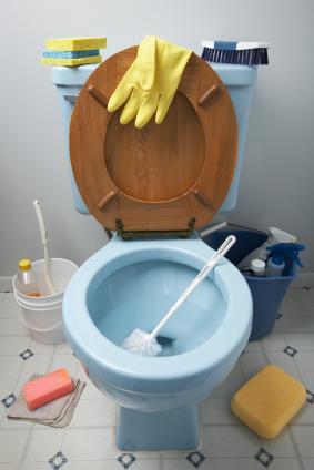 en grundlig rengöring av badrummet städas alltid